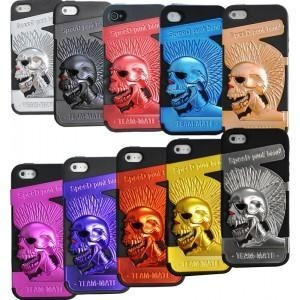 China The new mobile phone shell, mobile phone shell skull, punk, IPHONE cell phone insurance cover on sale