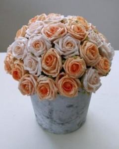 China Anniversary Flowers Peach Rose Dome on sale