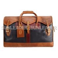 103112-Classic leather duffle bag