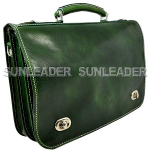 China 102209-Imperiali Italian leather soft sided briefcase on sale
