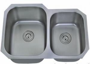 China Stainless Steel Kitchen Sink Undermount Stainless Steel 32 in. Double Bowl Kitchen Sink on sale