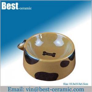 China Ceramic pet bowl ceramic pet feeder on sale