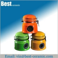 China Ceramic jar&canister ceramic tea coffee sugar canister on sale