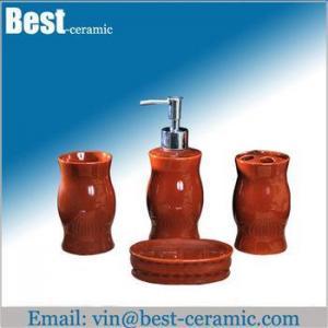 China Ceramic bathroom set ceramic bathroom accessories set on sale