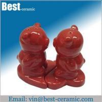 China Ceramic salt&pepper shaker ceramic salt and pepper shaker wedding gift set on sale