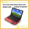 China Laptop computer 10.2inch intel dual core notebook for sale
