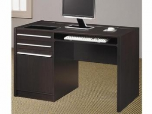 China Contemporary Ontario Single Pedestal Computer Desk with Charging Station on sale