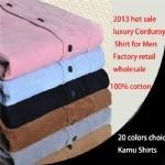 China Luxury corduroy shirt design/casual men shirts/long sleeve corduroy shirt/winter shirts on sale