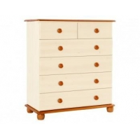 Solid Pine Chests Of Drawers - Cream