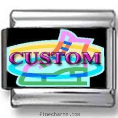 China Custom Neon Glow Ice Skating Photo Charm on sale