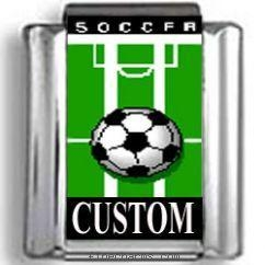 China Custom Soccer Photo Charm on sale