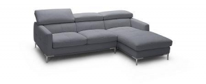 China Premium Leather Sectionals 1281b Italian Leather Sectional Grey on sale