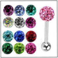 China AB 28868 Steel Tongue with Swarovski Ferido Ball on sale