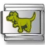China Charms On SALE Funny Yellow Dog Italian Charm on sale