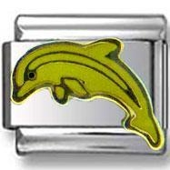 China Charms On SALE Diving Dolphin Italian Charm on sale