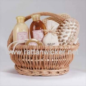 China round willow wicker bath packing storage baskets on sale