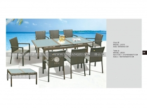 China outdoor ratten furniture tables and chairs on sale