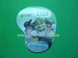China Item:Mouse pad with liquid filled wrist support on sale