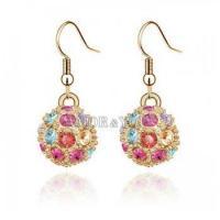 Wholesale Hotsale Popular Colorful Swarovski Crystal Fashion Jewelry Dangle Earrings
