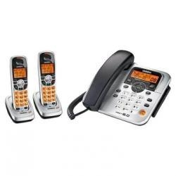 China Uniden DECT1588-2 Corded Phone with DECT 6.0 Cordless Handsets and Digital Answering System on sale