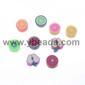 China 1000pcs Mixed Color Fruits Polymer Clay Flower 10mm on sale
