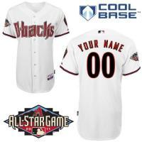 Arizona Diamondbacks Customized White Cool Base w2011 All Star Patch Youth MLB Jersey
