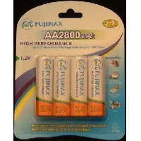 Fujimax AA NiMH 2800mAh Rechargeable Batteries (LR6, RX6, MN1500, UM-3X1, HP7, AM3, R6HP, R6)
