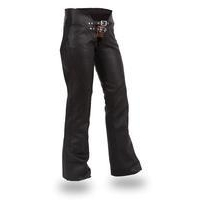 Women's double belted chap with adjustable thigh fitting #FIL745CSL