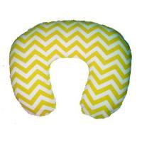 Custom yellow chevron zig zag slipcover for boppy pillow nursing pillow