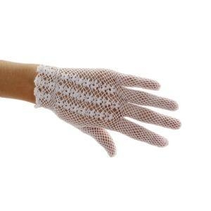 China Southern Miss Cotton Crochet Short Gloves on sale