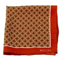 Psychedelic Orange Silk Pocket Square or Handkerchief by Belisi