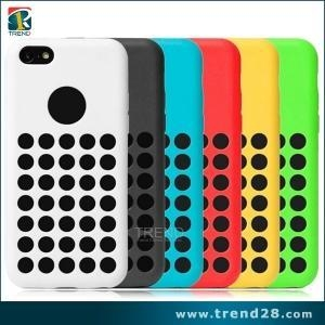 China Christmas dot hole color tpu case for iphone 5c on sale