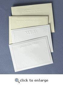 China Personalized Embossed Border Note Cards on sale