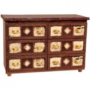 China Bedroom Furniture Adirondack Style Six Drawer Dresser on sale