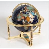 Lapis Globe On Stand - Short