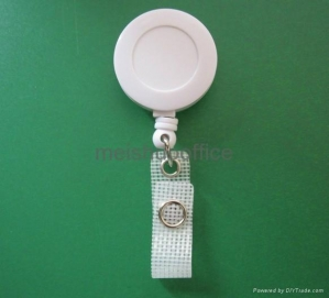 China Retractable Reel Identity ID Card Pass Badge Holder with Reinforced Strap on sale