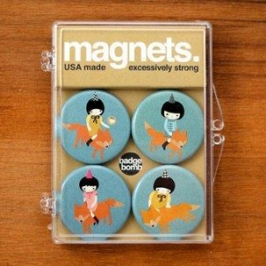 China Fox Girls Magnet Pack - Set of 4 on sale