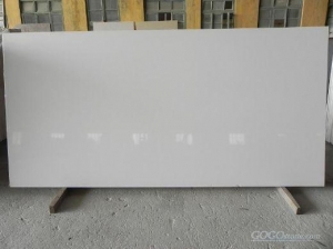 China pure white artificial quartz slab on sale