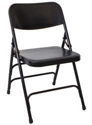 China Folding Chairs Black Metal Folding Chair on sale