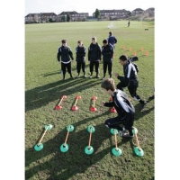 Precision training speed agility cone set
