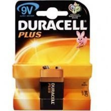 China DURACELL PLUS 9v Alkaline Battery 10X1 Pack MN1604 on sale