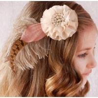 Hair Fascinator & Headband Vintage Feather Hair Clip& Feather Brooch with Stunning Rhinestone