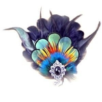 China Stunning Vintage Women' Feather Hair Clip(also can be used as brooch or pendant) on sale