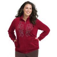 China Fleece & Sweats Front-Detail Women's Velour Jacket on sale