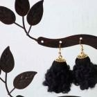 China Chunky crocheted textile earrings on sale