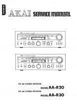 China Akai AA-R20 AA-R30 FM/AM Stereo Receiver Service Manual PDF on sale