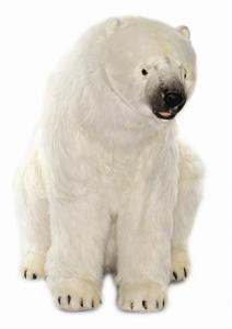 China Sitting Mama Polar Bear Plush Stuffed Animal on sale