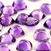 China Amethyst (African) Square Cushion Cabochon 6mm Rose Cut on sale
