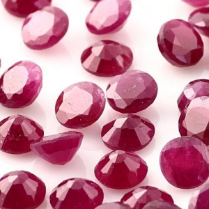 China Ruby Gemstone 5mm Round on sale