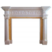 Ionic Albany Fireplace Marble Mantel